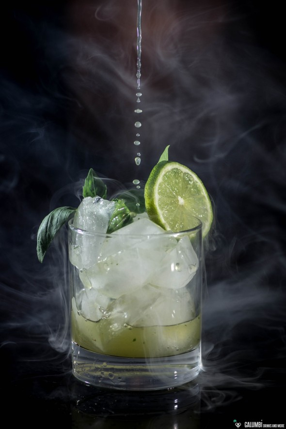 Smoked Basil Daiquiri