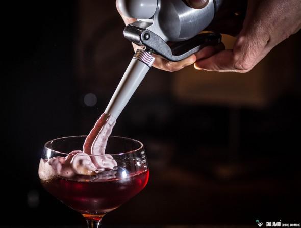 Jerez Old Fashioned & Passionfruit-Espuma